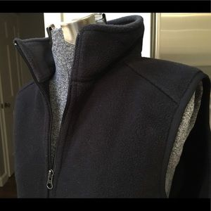 LL Bean black fleece vest